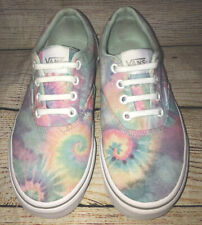 USED VANS Women's Size 6 Multi Color Tie Dye Athletic Sneaker Shoes