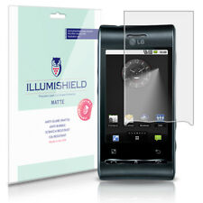 iLLumiShield Matte Screen Protector w Anti-Glare/Print 3x for LG Optimus