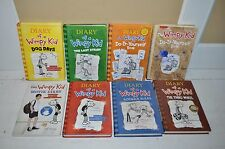 Lot of 8 Diary Of A Wimpy Kid By Jeff Kinney