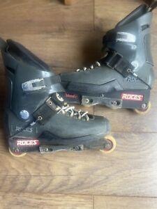 Roces Majestic 13 Twelve 12 UK11 Aggressive In-Line Skates Black/Grey Blades