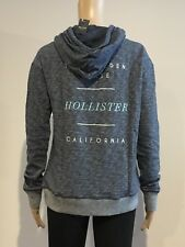 Abercrombie & Fitch Hollister HOODIE Womens Blue Logo Pullover Size S NWT