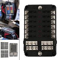 12 Way 24 Fuse Box Circuit Standard Blade Block Holder Car Boat DC 12V-32V US