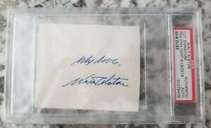 "Walt Alston Signed PSA/DNA Cut Signature 1955 DODGERS Rare Inscription ""My Love"""