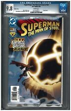 SUPERMAN: THE MAN OF STEEL #100 CGC 9.8 (5/00) DC variant white pages