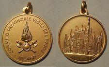 medaglia vigili dle fuoco pompieri Milano