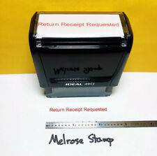 New Listingreturn Receipt Requested Rubber Stamp Red Ink Self Inking Ideal 4913