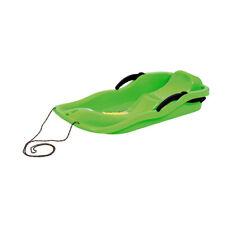 Schlitten Kinderschlitten Rodel Winter Schnee Bremsen grün RACE