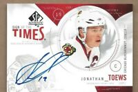 2009-10 SOTT hockey card Jonathan Toews autographed Chicago Blackhawks