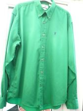 YVES SAINT LAURENT GREEN COTTON SHIRT size L BNEW