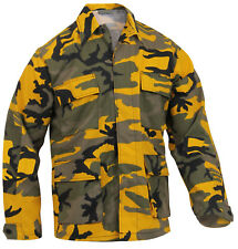 Military Style BDU Shirt Coat Yellow Stinger Camo Camouflage Rothco 8870