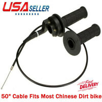 """Motorcycle 7/8"""" Handlebar Hand Grips Throttle Cable Assembly for Pit Dirt Bike"""