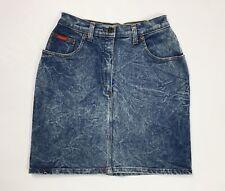 Garcia gonna jeans usato donna vita alta hot mom S W28 tg 42 denim stretch T3482