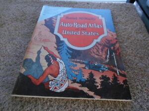 1926 Rand McNally Auto Road Atlas of the UNited States, FACSIMILE EDITION