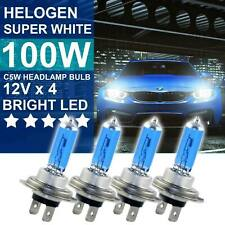 4x H7 100W 8500K Xenon Hid Super White Effect Look Headlight Lamp Light Bulb 12V