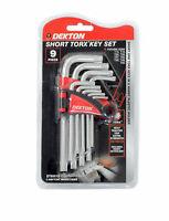 Dekton 9 Piece Short Torx Key Set of 9 Extra Strong with Key Holder Case