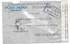 WW2 194? ITALY AIR MAIL COVER TO ITALIAN AT A POW CAMP IN SOUTH AFRICA 72*
