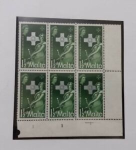6 Mint Stamps Defence of Malta - XV Anniversary of the George Cross Award 1957