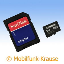 Tarjeta de memoria SanDisk MicroSD 2gb F. BenQ-Siemens ef81