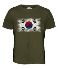 SOUTH KOREA DISTRESSED FLAG MENS T-SHIRT TOP HANGUK KOREAN SHIRT FOOTBALL