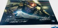 Steve Downes signed Master Chief HALO 11x17 METALLIC photo BAS M62100