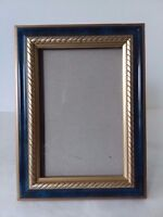 """Blue Gold Tone Picture Frame 4"""" x 6"""""""
