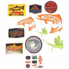 Fishpond Fly Fishing Logo Decorative Adhesive Decal Sticker Bundle Set