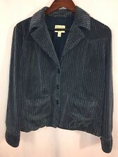 Cabelas Women's Jacket Large Lined Wide Corduroy Blue