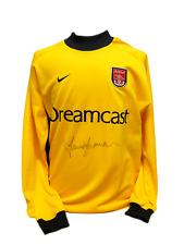 David SEAMAN signé Nike 2001 Arsenal gardien football shirt COA preuve