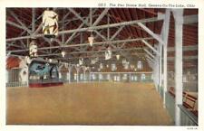 GENEVA-ON-THE-LAKE, OH  Ohio   PIER DANCE HALL Interior View    c1940's Postcard