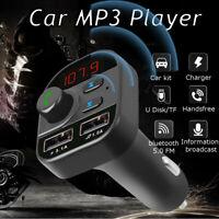 Dual USB Charger Wireless bluetooth Handsfree Car Kit FM Transmitter MP3 Player