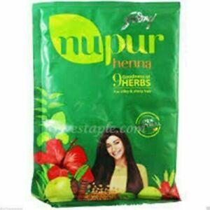 Natural Godrej Nupur Mehendi Mehandi Henna-Powder 9herbs Shiny Silky-Hair 120 gm