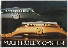 Il VOSTRO ROLEX OYSTER 1987 LIBRETTO VINTAGE 1665 1655 1680 6263 6240 Submariner OEM