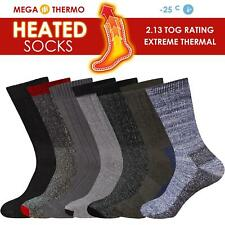 Mens Heated Thermal Socks 2.13 Tog Size UK6 -11 Hot Warm Burshed Winter Sox