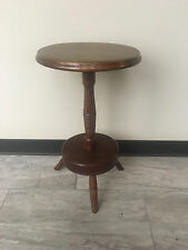 Antique Primitive American Windor Unusual Candle Stand Table