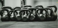 Fray Fitness Cast Iron Kettlebell Weight Lifting Select a Size 10-70LB Home Gym