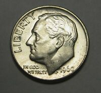 Gorgeous 1960-D Silver Roosevelt Dime Grading NICE BU     DUTCH AUCTION