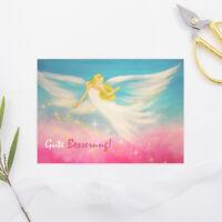 """Genesungskarte """"Gute Besserung"""" Krankheit,Postkarte, Karte, Engel, Beste Wünsche"""