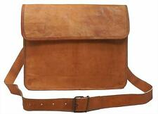 Season sale Quality Messenger Genuine Vintage Leather Briefcase Satchel Bag