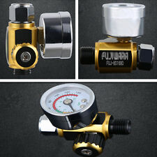 Metal On Gun Paint Air Pressure Regulator Gauge Spray Accessories 0-0.10Mpa G1/4