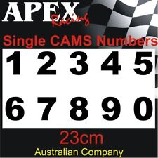 CAMS Approved Sizing - Single Door Number Sticker - Race Rally Drift 23cm High