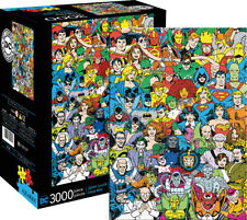 DC Comics Line Up 3000 Piece Puzzle DC Comics Batman Superman Wonder Woman Green