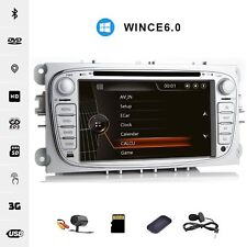 """7"""" Car CD DVD Player GPS SAT NAV Stereo Radio for FORD S-MAX FOCUS +Camera Map"""