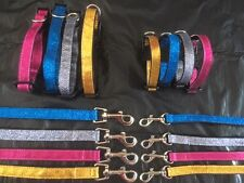 Sparkly Bright Dog Collar and Lead Set - Tiny dog / Small Dog / Chihuahua T-cup