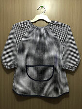 Boys Target BRAND Navy/white Gingham Check School Art Smock Age 5 - 7 Years
