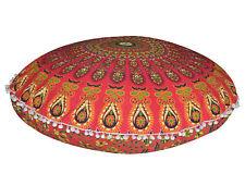 "Indian Mandala Cushion Cover Set Of 2 Bohemian Round 32"" Throw Floor Pillow Case"