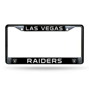 LAS VEGAS RAIDERS Authentic Metal BLACK License Plate Frame Auto Truck Car NFL