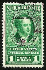 us stamp usa sc#RD127 green stock transfer revenue overprint 1942 son cds 1942