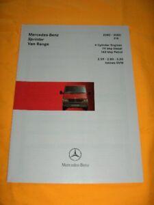 Mercedes-Benz Sprinter Van Range (GB) 1998 Prospekt brochure Depliant