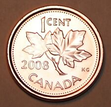 2008 1 Cent Canada Steel Nice Uncirculated Canadian Penny