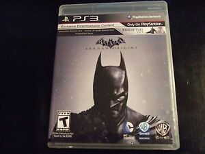 Replacement Case (NO GAME) BATMAN ARKHAM ORIGINS PLAYSTATION 3 PS3